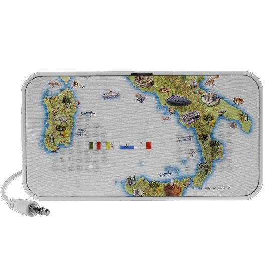 Map of Italy Mini Speaker