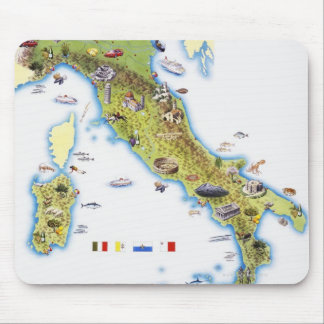 Map of Italy Mouse Pad