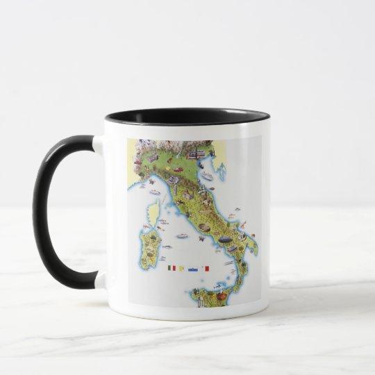 Map of Italy Mug