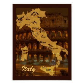 Map of Italy Print