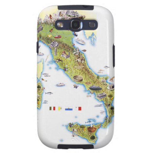 Map of Italy Samsung Galaxy S3 Cases