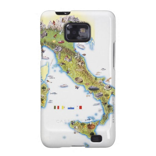 Map of Italy Samsung Galaxy SII Cases