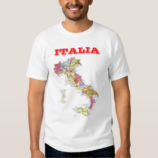 Map of Italy T Shirt