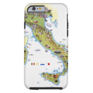 Map of Italy Tough iPhone 6 Case