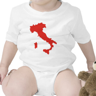 Map of Italy Bodysuits