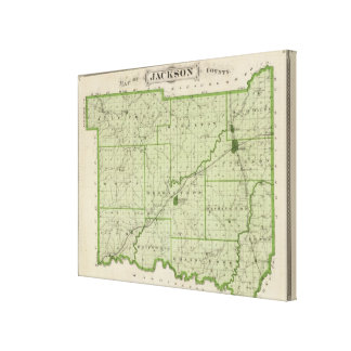 Map of Jackson County 2 Canvas Print