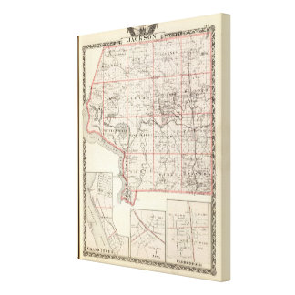 Map of Jackson County, Grand Tower Canvas Print