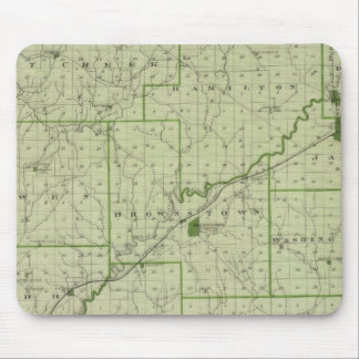 Map of Jackson County Mouse Pad