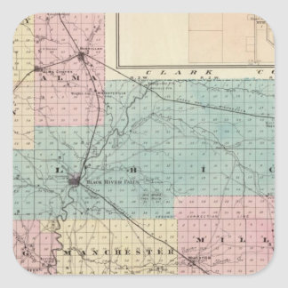 Map of Jackson County, Plat of Friendship Square Sticker