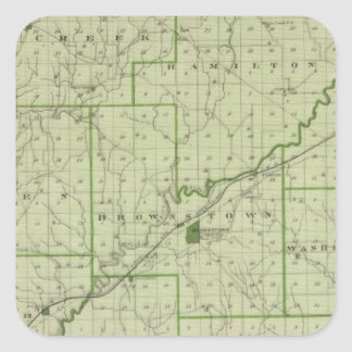 Map of Jackson County Square Sticker