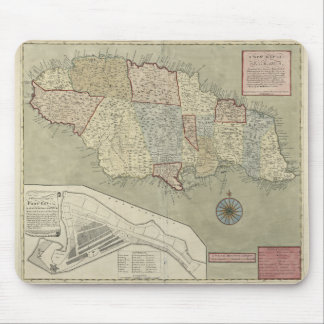 Map of Jamaica (1771) Mouse Pad