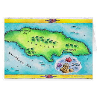 Map of Jamaica Card