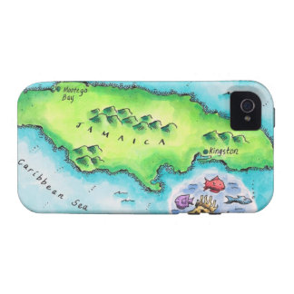 Map of Jamaica Case-Mate iPhone 4 Covers