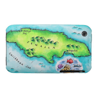 Map of Jamaica iPhone 3 Cover