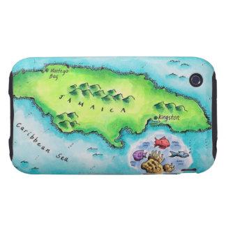 Map of Jamaica iPhone 3 Tough Case