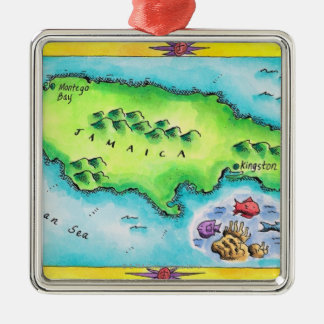 Map of Jamaica Ornaments