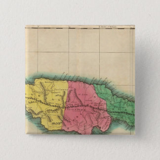 Map Of Jamaica Pinback Button