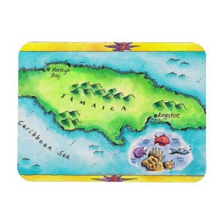Map of Jamaica Rectangular Magnet