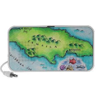 Map of Jamaica iPhone Speaker
