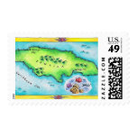 Map of Jamaica Stamp