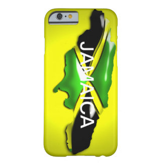 Map of Jamaica Yellow Case Barely There iPhone 6 Case