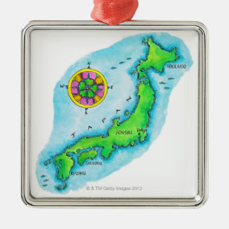 Map of Japan 2 Ornament