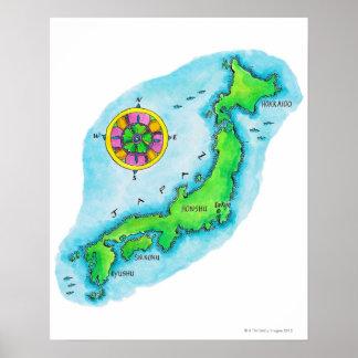 Map of Japan 2 Print