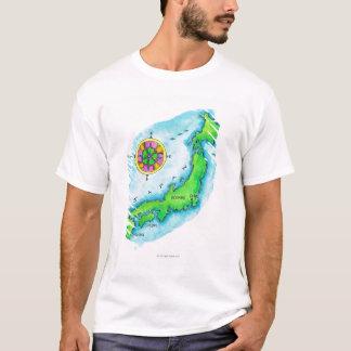 Map of Japan 2 T-Shirt