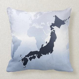 Map of Japan 2 Throw Pillow