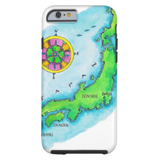 Map of Japan 2 Tough iPhone 6 Case