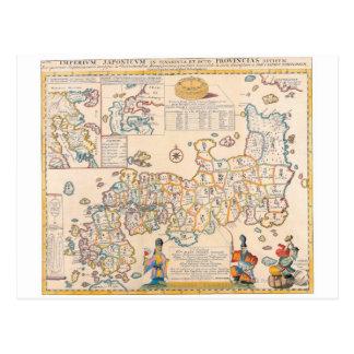 Map of Japan 3 Postcard