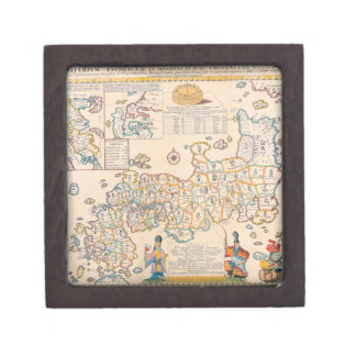Map of Japan 3 Premium Jewelry Boxes