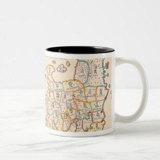 Map of Japan 3 Two-Tone Coffee Mug