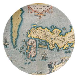 Map of Japan 5 Dinner Plate