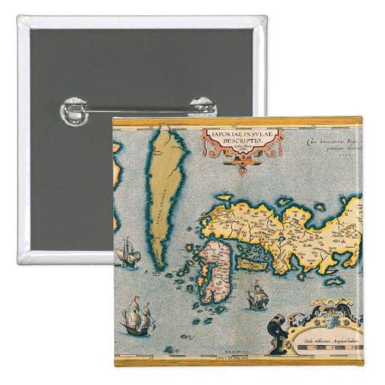 Map of Japan 5 Pinback Button