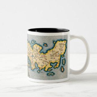 Map of Japan 5 Two-Tone Coffee Mug