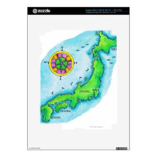 Map of Japan iPad 3 Skins