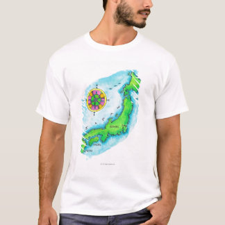 Map of Japan T-Shirt