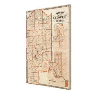 Map of Jasper County Canvas Print