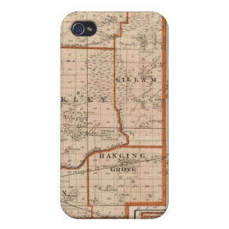 Map of Jasper County iPhone 4 Covers