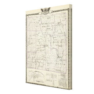 Map of Jasper County, Lawrenceville Canvas Print