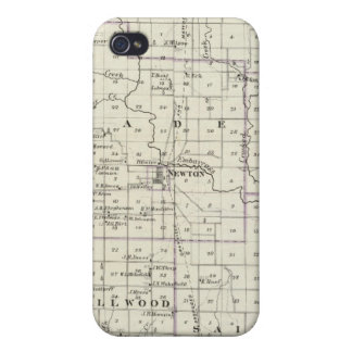 Map of Jasper County, Lawrenceville iPhone 4/4S Cases