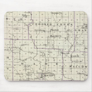 Map of Jasper County, Lawrenceville Mouse Pad