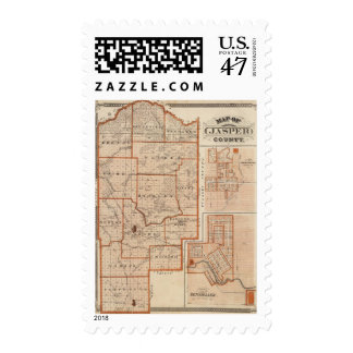 Map of Jasper County Postage