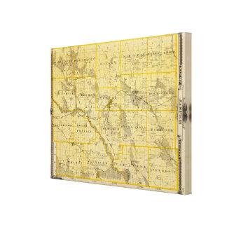 Map of Jasper County, State of Iowa Canvas Print