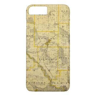 Map of Jasper County, State of Iowa iPhone 8 Plus/7 Plus Case