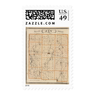 Map of Jay County Stamp