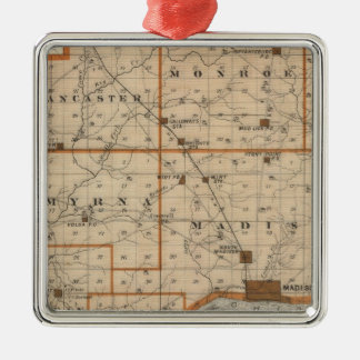 Map of Jefferson County Metal Ornament