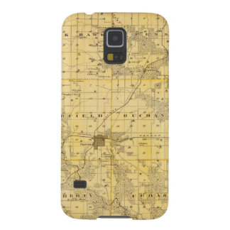 Map of Jefferson County, State of Iowa Case For Galaxy S5