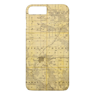 Map of Jefferson County, State of Iowa iPhone 8 Plus/7 Plus Case